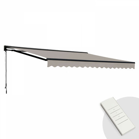 Store banne motorisé avec coffre semi-intégral 3 x 4 m