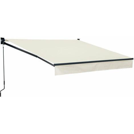 Store banne SAULE 2,95 × 2,5m - Toile beige et structure grise - Beige