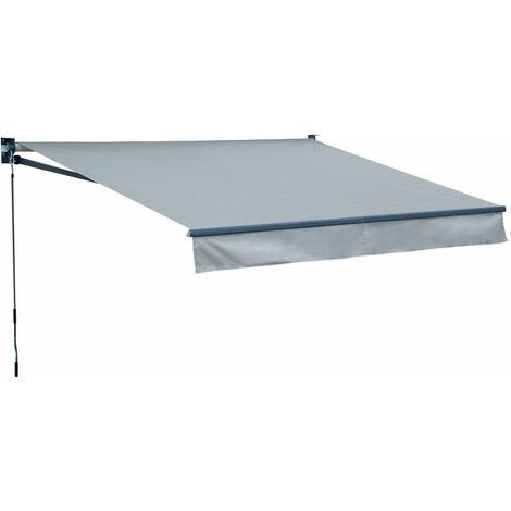 Store banne SAULE 2,95 × 2,5m - Toile grise et structure grise - Gris