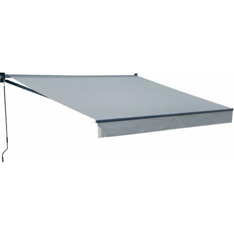 Store banne SAULE 3,5 × 3m - Toile grise et structure grise - Gris