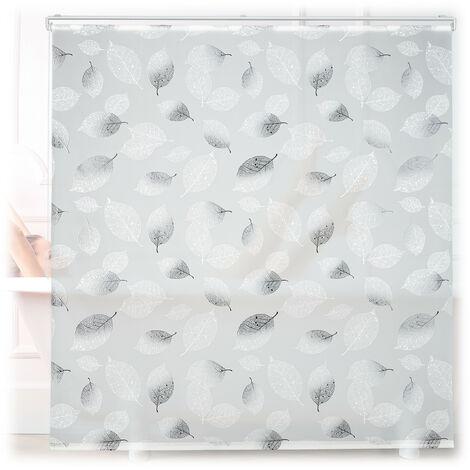 Store de baignoire, 160 x 240 cm, rideau de douche avec chaine, montage flexible, salle de bain, noir-blanc