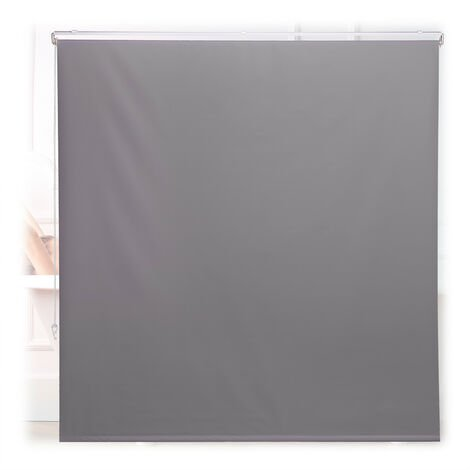 Store de baignoire, 160x240 cm, rideau de douche hydrofuge, plafond & fenêtre, pare-bain, salle de bain, gris