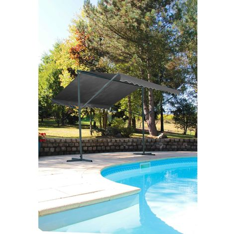 Store double pente Provence - 350 x 300 cm - Gris anthracite - Gris foncé
