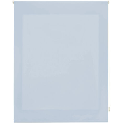 Store enrouleur 180X175 BLEU CLAIR Poliéster Translucide avec Fixation au mur ou au plafond