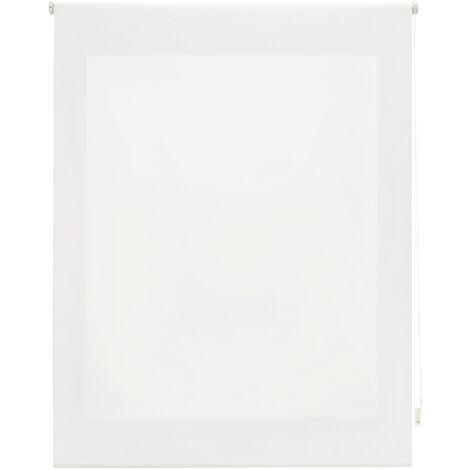 Store enrouleur 180X175 BRUT Poliéster Translucide avec Fixation au mur ou au plafond