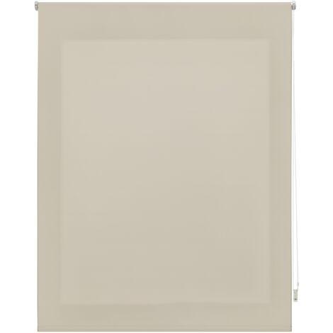 Store enrouleur 180X175 IVOIRE Poliéster Translucide avec Fixation au mur ou au plafond