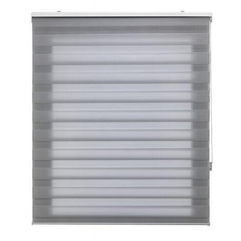 Store enrouleur 180X180 GRIS Fixation Nuit et Jour Mur ou Plafond