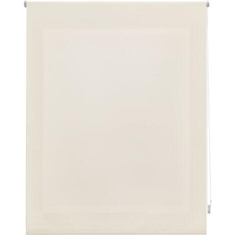 Store enrouleur 180X250 BEIGE Poliéster Translucide avec Fixation au mur ou au plafond