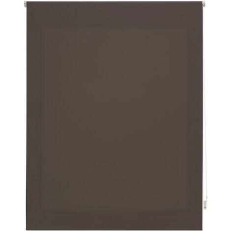 Store enrouleur 180X250 GRIS Poliéster Translucide avec Fixation au mur ou au plafond