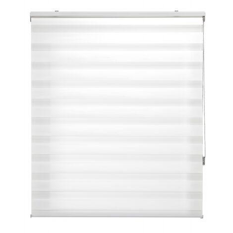 Store enrouleur 80X180 CRÈME Fixation Nuit et Jour Mur ou Plafond
