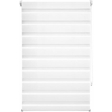 Store enrouleur adaptable occultant blanc 80 x 150 cm - Blanc