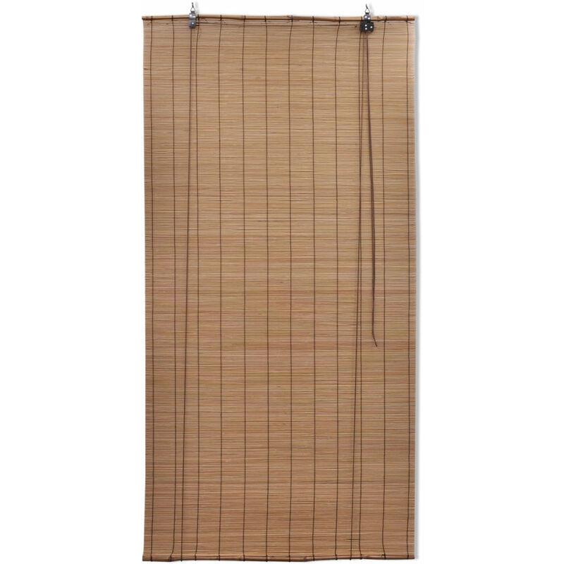 Store Enrouleur Bambou Brun 100 X 160 Cm Fenêtre Rideau Pare Vue