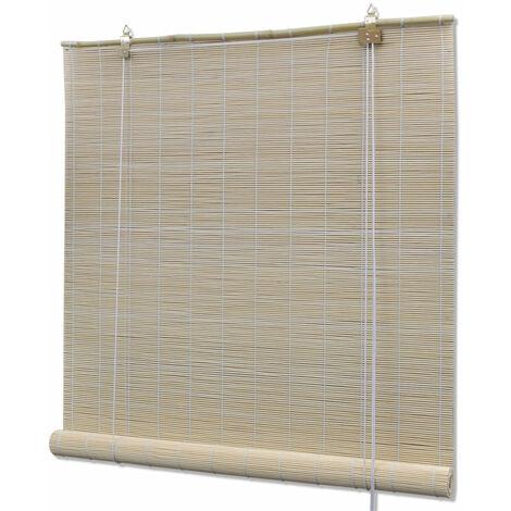 Store enrouleur bambou naturel 140 x 160 cm fenêtre rideau pare-vue volet roulant - Or