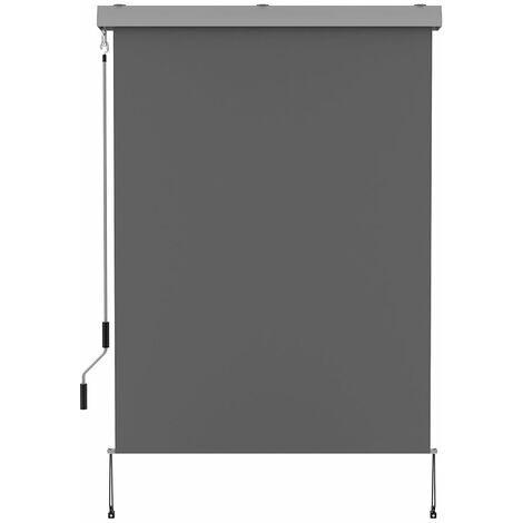 Store enrouleur d'extérieur 120x250cm coffre AUSTIN gris aluminium