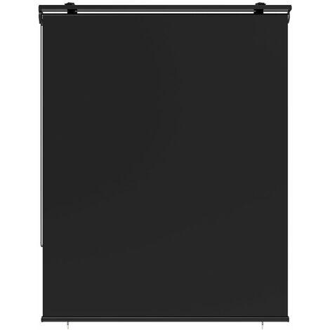 Store enrouleur d'extérieur universel HOUSTON gris en 120x225 cm avec crochets réglables