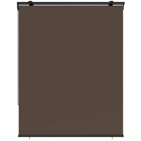 Store enrouleur d'extérieur universel HOUSTON taupe en 120x225 cm avec crochets réglables