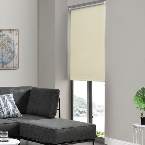 Store enrouleur (diff. dimensions et couleurs) - protection solaire, occulte la lumi?re - opaque