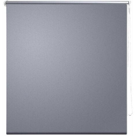 Store enrouleur gris occultant 80 x 175 cm fenêtre rideau pare-vue volet roulant - Gris