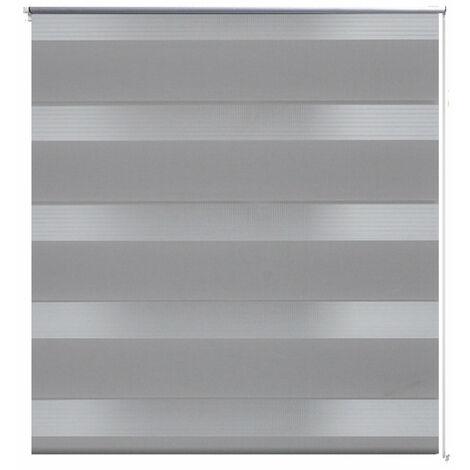 Store enrouleur gris tamisant 50 x 100 cm fenêtre rideau pare-vue volet roulant - Gris
