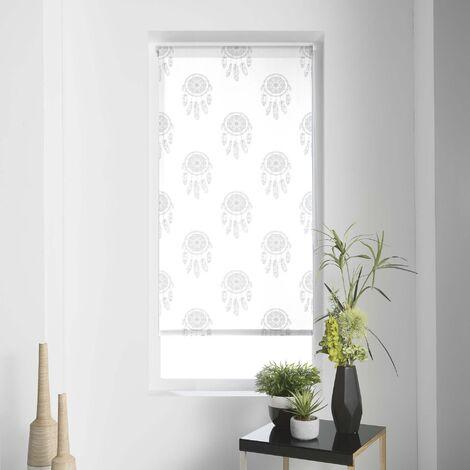 Store enrouleur japonais 120 x 180 cm polyester kaya Blanc