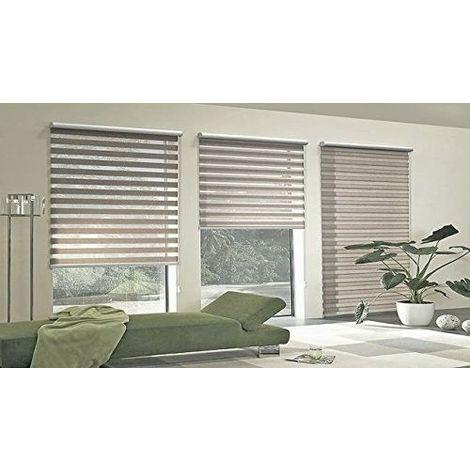 store enrouleur jour nuit capuccino fixation sans per age. Black Bedroom Furniture Sets. Home Design Ideas
