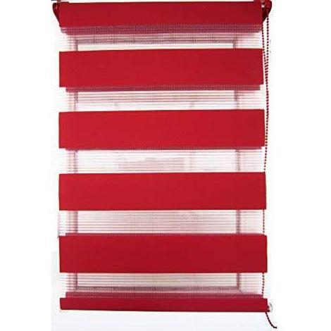 store enrouleur jour nuit rouge fixation sans per age. Black Bedroom Furniture Sets. Home Design Ideas