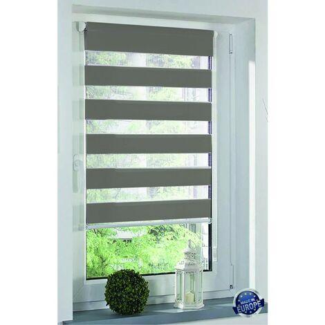 Store Enrouleur jour/nuit sans perçage dimensions 55x160cm Coloris - store gris clair CLA 21 - store gris clair CLA 21