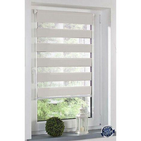 Store Enrouleur jour/nuit sans perçage dimensions 60x160cm Coloris - Blanc - Blanc