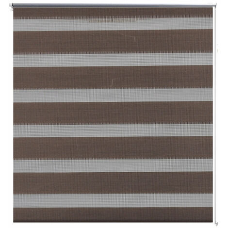 Store enrouleur marron tamisant 50 x 100 cm fenêtre rideau pare-vue volet roulant - Marron
