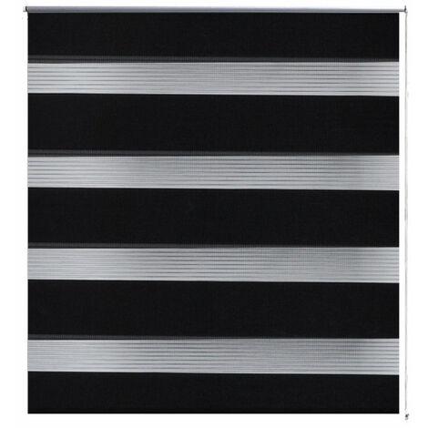Store enrouleur noir tamisant 50 x 100 cm fenêtre rideau pare-vue volet roulant - Noir
