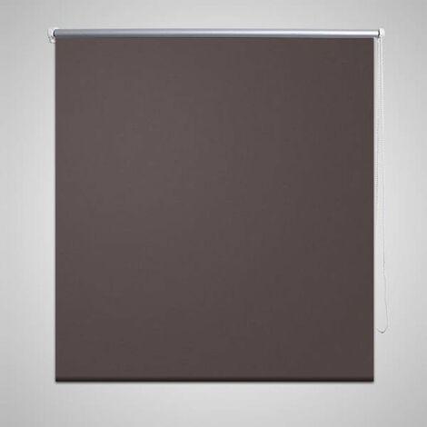 Store enrouleur occultant 80 x 175 cm marron