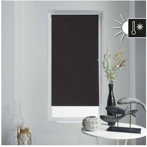 Store enrouleur occultant 90x180 cm Noir - Noir