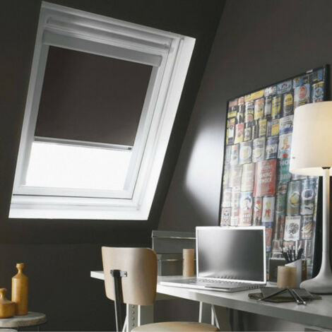 """main image of """"Store Enrouleur Occultant Cadre Alu compatible VELUX® Gris anthracite"""""""