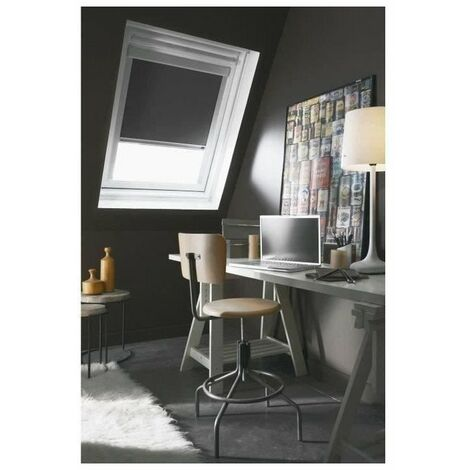 Store Enrouleur Occultant Cadre Alu compatible VELUX® Gris anthracite
