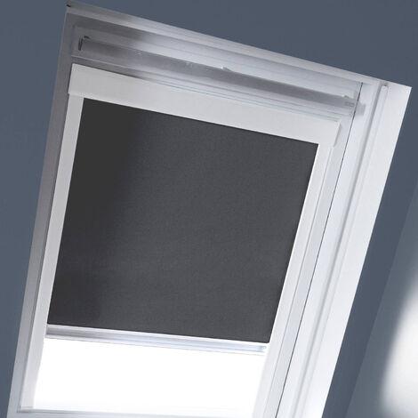 Store Enrouleur Occultant cadre blanc compatible VELUX&reg