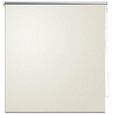Store enrouleur occultant crème 60 x 120 cm fenêtre rideau pare-vue volet roulant - Crème
