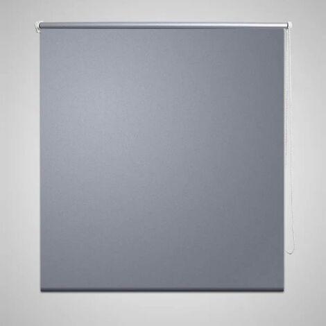 Store enrouleur occultant gris 60 x 120 cm