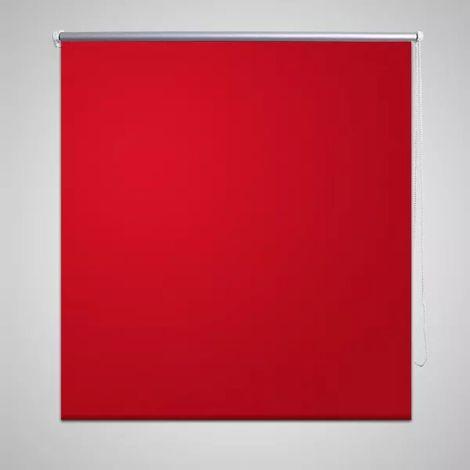 Store enrouleur occultant rouge 40 x 100 cm