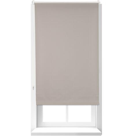 Store Enrouleur occultant, store occultant, 160x56 cm, Support Chaînette latérale, Fixation fenêtre, marron