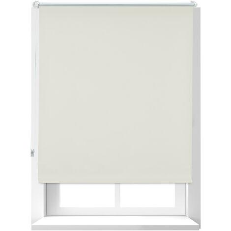 Store Enrouleur occultant, store occultant, Support Chaînette latérale, Fixation fenêtre, beige, 100 x 160 cm