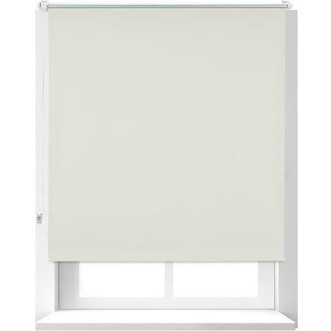 Store Enrouleur occultant, store occultant, Support Chaînette latérale, Fixation fenêtre, beige, 110 x 160 cm