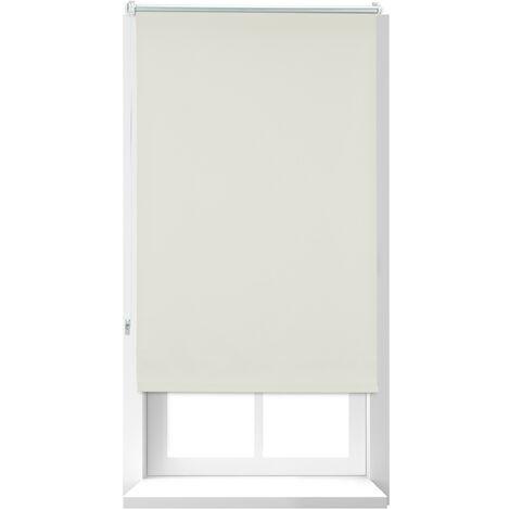 Store Enrouleur occultant, store occultant, Support Chaînette latérale, Fixation fenêtre, beige, 60x160 cm