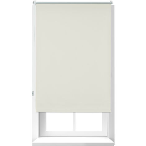 Store Enrouleur occultant, store occultant, Support Chaînette latérale, Fixation fenêtre, beige, 70x160 cm