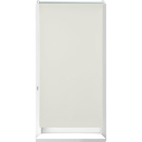 Store Enrouleur occultant, store occultant, Support Chaînette latérale, Fixation fenêtre, beige, 70x210 cm
