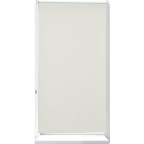 Store Enrouleur occultant, store occultant, Support Chaînette latérale, Fixation fenêtre, beige, 80 x 210 cm