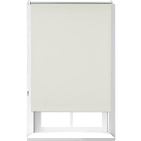 Store Enrouleur occultant, store occultant, Support Chaînette latérale, Fixation fenêtre, beige, 80x160 cm
