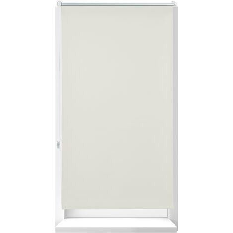 Store Enrouleur occultant, store occultant, Support Chaînette latérale, Fixation fenêtre, beige, 90 x 210 cm