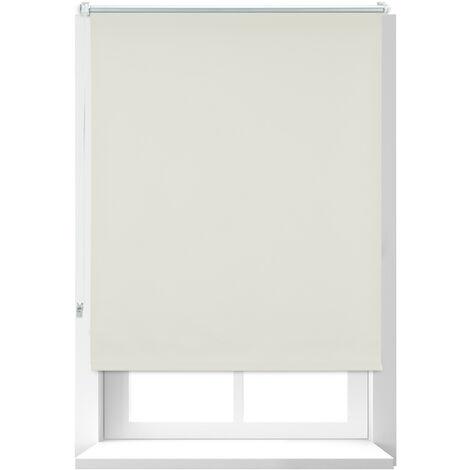 Store Enrouleur occultant, store occultant, Support Chaînette latérale, Fixation fenêtre, beige, 90x160 cm