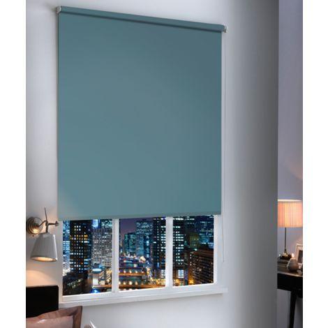 Store Enrouleur Occultant Uni - Bleu Zinc - L94 x H190cm