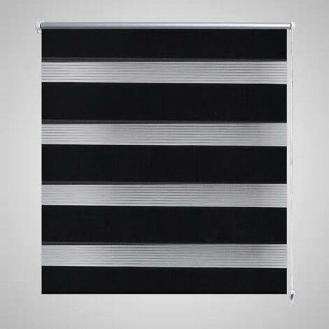 Store enrouleur tamisant 50 x 100 cm noir HDV08111